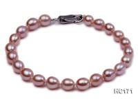 6-7mm A-grade oval freshwater pearl bracelet