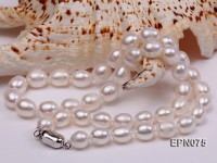 8-9mm White Oval Freshwater Pearl Necklace