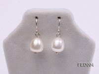 8-9mm White Drop-shaped Freshwater Pearl Earring