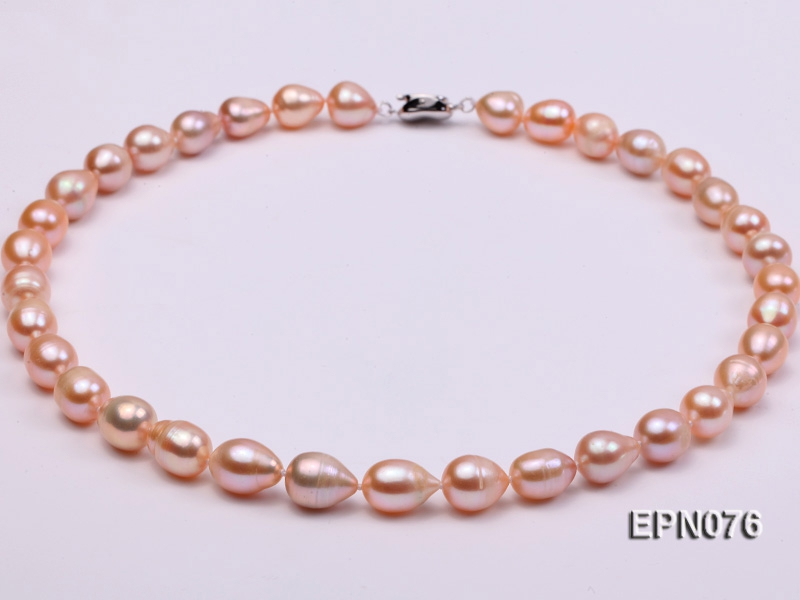 9-10mm Oval Pink Freshwater Pearl Necklace