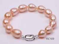 9-10mm Oval Pink Freshwater Pearl Bracelet