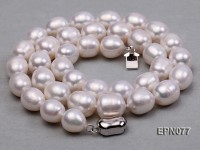 9-10mm Oval White Freshwater Pearl Necklace