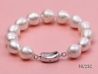 11-12mm Oval White Freshwater Pearl Bracelet