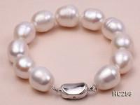 12-13mm Oval White Freshwater Pearl Bracelet