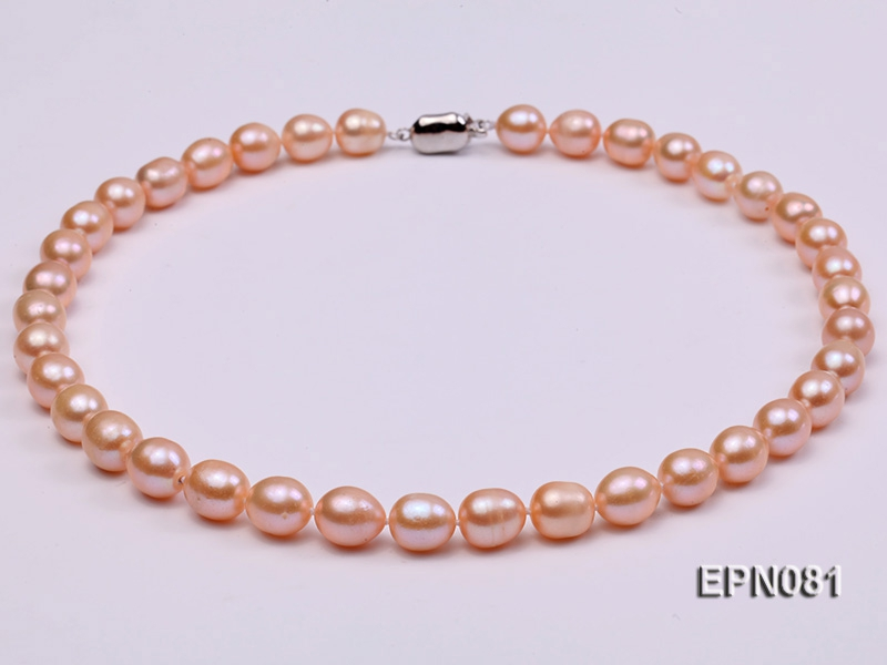 9-10mm Pink Oval Freshwater Pearl Necklace