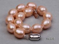 9-10mm pink oval freshwater pearl bracelet