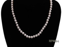 6.5-7mm AAA-grade Classic White Round Freshwater Pearl Necklace