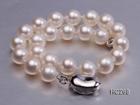 6.5mm AAA white round freshwater pearl bracelet