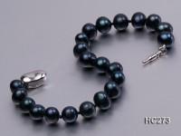 8mm black round freshwater pearl bracelet