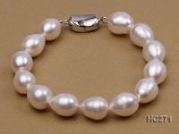 10-11mm white oval freshwater pearl bracelet