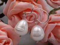 10-11mm White Drop-shaped Freshwater Pearl Earring