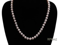 7-8mm Classic White Round Freshwater Pearl Necklace