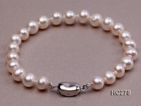 7mm AAA white round freshwater pearl bracelet
