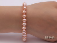 7.5mm AAA pink round freshwater pearl necklace and bracelet set