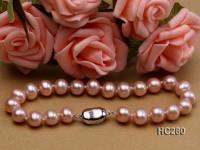 7.5mm AAA lavender round freshwater pearl bracelet
