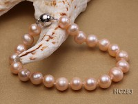 8-9mm pink round freshwater pearl bracelet