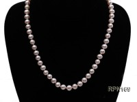 Quality AAA 7.5-8mm Classic White Round Freshwater Pearl Necklace