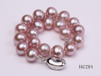 7.5-8mm AAA lavender round freshwater pearl bracelet