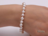 7.5-8mm AAAAA white round freshwater pearl bracelet