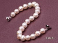 8-9mm white round freshwater pearl bracelet
