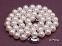 8-8.5mm AA Classic White Round Freshwater Pearl Necklace