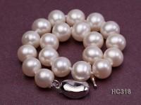 8mm white round freshwater pearl bracelet