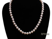 8mm AAA white round freshwater pearl necklace and bracelet set