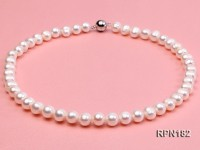 9-10mm Classic White Freshwater Pearl Necklace