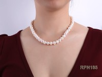 9-10mm Classic White Round Freshwater Pearl Necklace