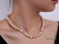 8mm AAA Round Multi-color Freshwater Pearl Necklace