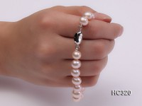8mm AAA round freshwater pearl bracelet