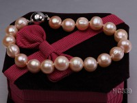 9-10mm pink round freshwater pearl bracelet
