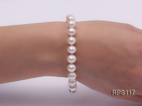 8-9mm AAA white round freshwater pearl necklace and bracelet set