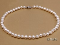 8-9mm AA Classic White Round Freshwater Pearl Necklace