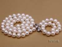 9mm AAA Round Freshwater Pearl Necklace,Bracelet and Earring Set