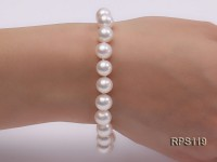 9mm AAA round freshwater pearl necklace and bracelet set