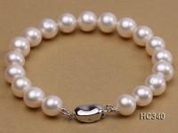 9mm white round freshwater pearl bracelet