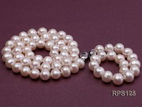 9mm round freshwater pearl necklace and bracelet set