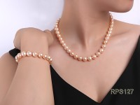 10mm AAA round freshwater pearl necklace and bracelet set
