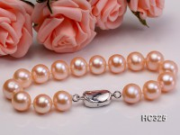 10mm AAA pink round freshwater pearl bracelet