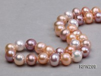 Classic 10mm AAA White, Pink & Lavender Round Freshwater Pearl Necklace