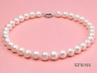 Super-size 12-13mm Classic White Round Freshwater Pearl Necklace