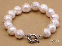 12-13mm round freshwater pearl bracelet