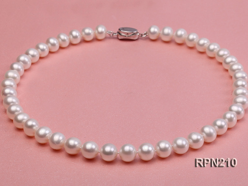 Classic 10-10.5mm AAA White Round Cultured Freshwater Pearl Necklace