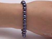 7-8mm AAA black round freshwater pearl bracelet