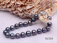 8-9mm black round freshwater pearl bracelet