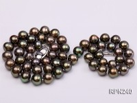 AAA-grade 7.5mm Black Round Freshwater Pearl Necklace