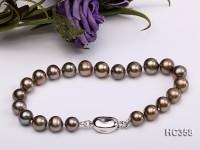 7.5mm AAA black round freshwater pearl bracelet