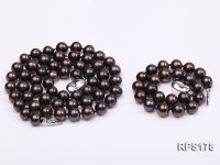 7-8mm AAA round freshwater pearl necklace and bracelet set