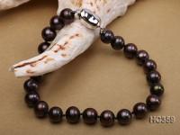 7-8mm  black round freshwater pearl bracelet